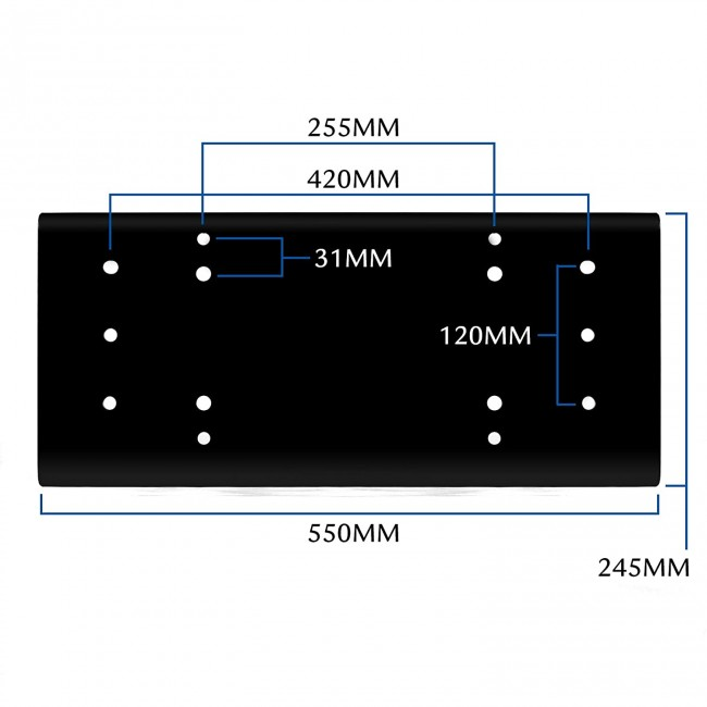 Suport placa universala de prindere troliu auto electric 12-24v 13500lbs  20000lbs