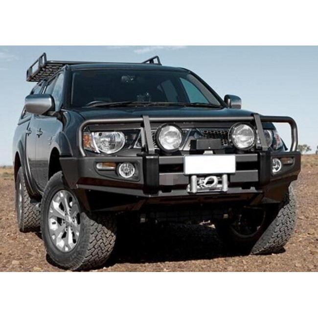 Bara fata off-road cu bull bar Mitsubishi Triton 2006-2014