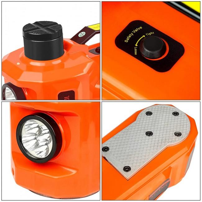 Cric electric hidraulic 5T cu compresor auto  si cheie de impact electrica