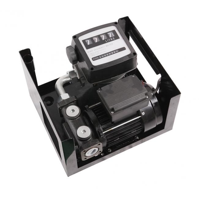 Pompa transfer motorina 100L/Min 220v cu furtun contor si pistol