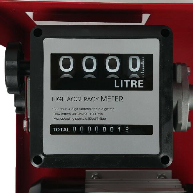 Pompa transfer motorina 60l/minut  cu contor mecanic si filtru decantor 220v