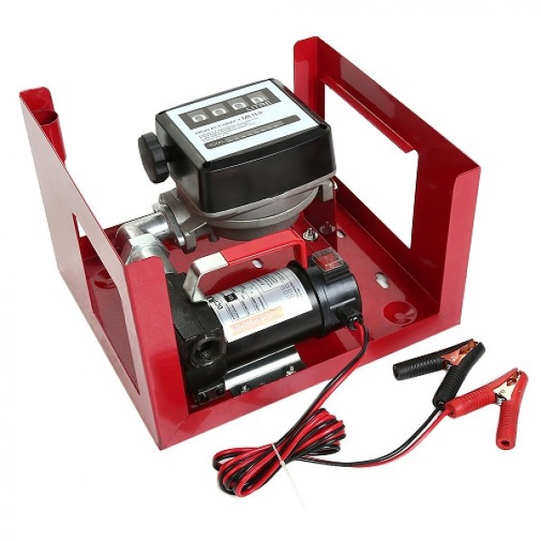 Pompa transfer motorina  12v cu contor mecanic si pistol