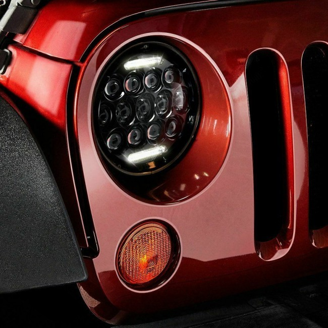 Faruri cu led 7''pentru Jeep,Suzuki,Nissan Patrol y60 ,Land Rover,Mercedes G ,Lada Niva