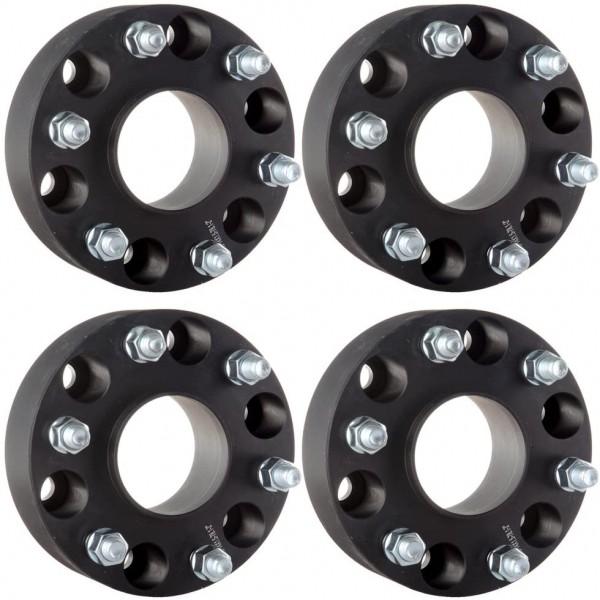Flanse distantiere Mitsubishi 30mm 6x139,7 M12x1,5 CB 108 cu inel de centare culoare negru