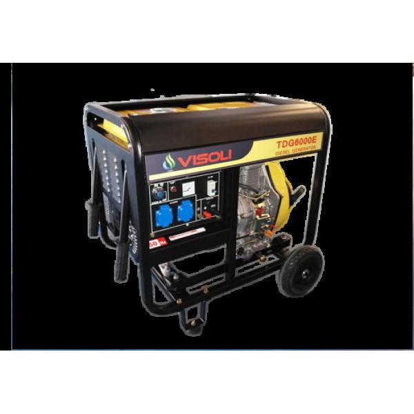 Generator de curent  Diesel Visoli 6,5kva - Pornire la cheie