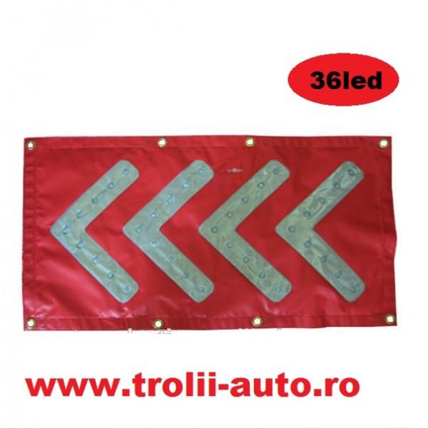 Led de avertizare pentru directionarea traficului tip banner cu sageata