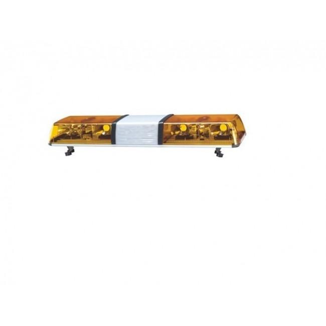 Rampa girofar galben cu 4 rotative si spatiu publicitar
