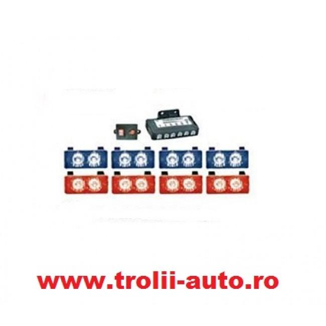 Stroboscoape auto cu led generatia 3 cu 8 module pentru grila