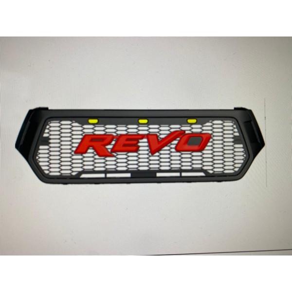Grila fata masca cu led Toyota Hilux Revo Rocco