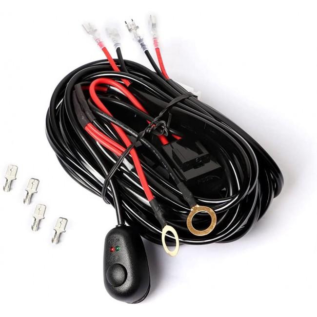 Instalatie electrica pentru proiectoare off-road cu doua iesiri